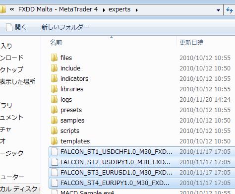 FALCON メタトレーダー4
